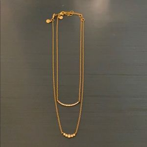 J Crew Factory double strand necklace